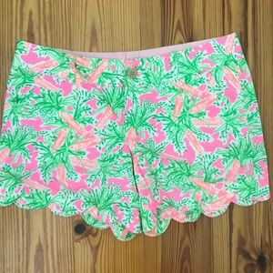 Lilly Pulitzer Buttercup Scalloped Short